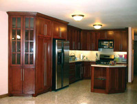 CUSTOM - Cherry Brown Stained Kitchen