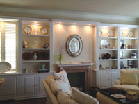 CUSTOM - Contemporary White Wall Unit