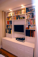 CUSTOM - White Entertainment Wall Unit