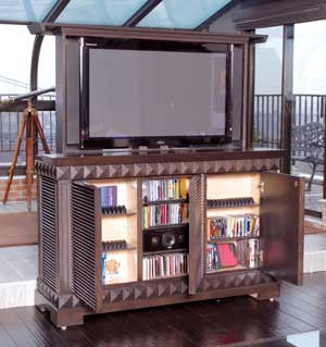 Custom Tv Cabinet With Motorized Lift Top