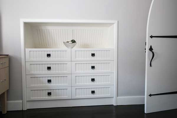 Custom Built In White Dresser