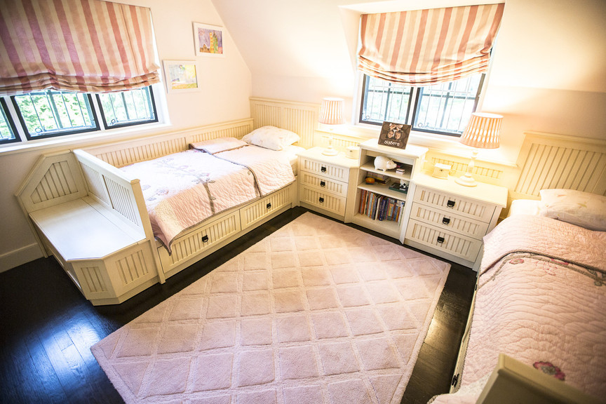Custom Made Childrens Bedroom With 2 Beds Closet