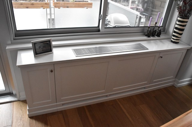 Custom Window Sill Radiator Cover In White