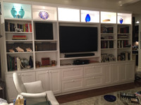 Custom - Entertainment Center in White