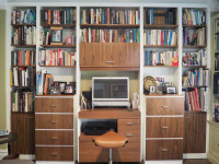 CUSTOM - Modern Office Wall Unit Desk