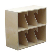 LP Record  Rack, 2 Shelf, NO base (Top Unit)