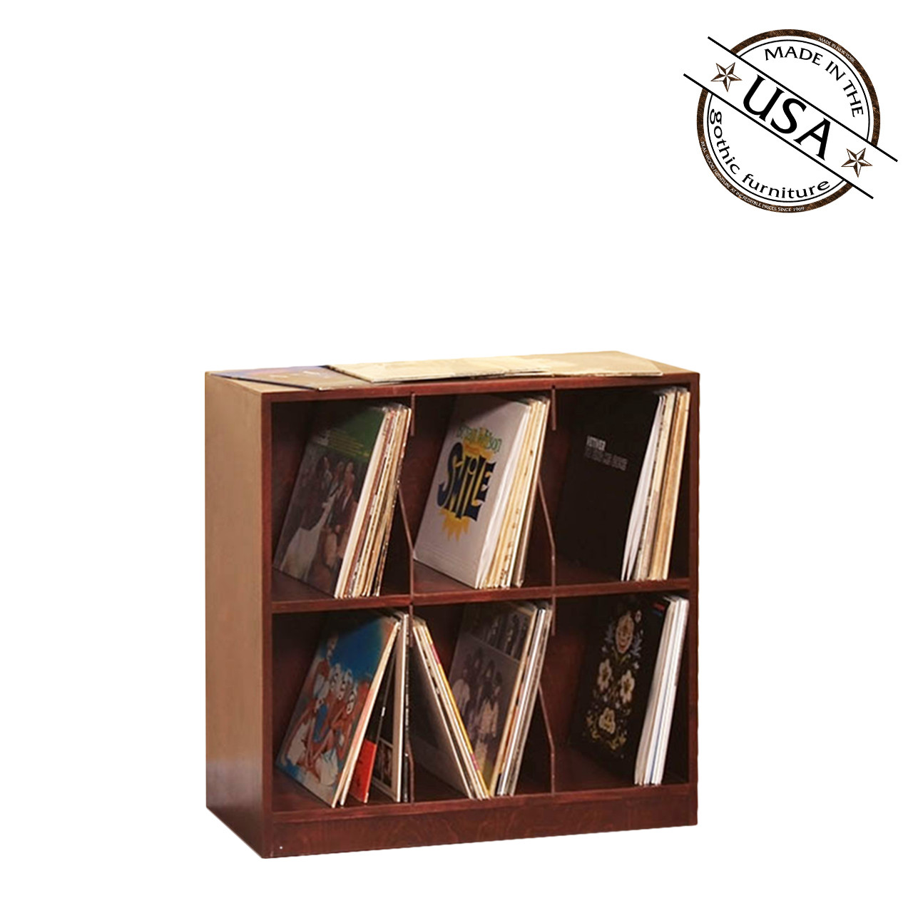 LP Record Rack, 2 Shelf With Base