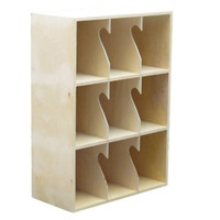 LP Record Rack, 3 Shelf, NO base (Top Unit)