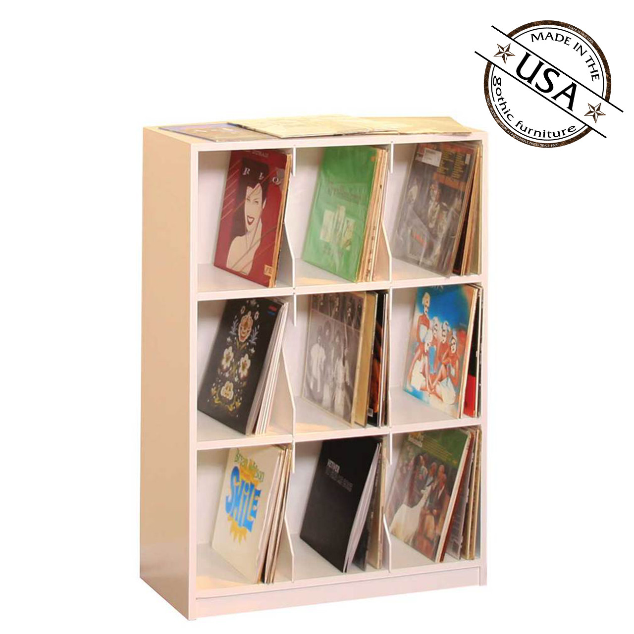 LP Record Rack, 3 Shelf With Base