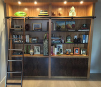 CUSTOM - Caramelized Bamboo Wall Unit