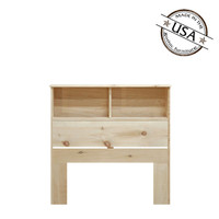 "Twin Bookcase Headboard (36"" High) in Pine"