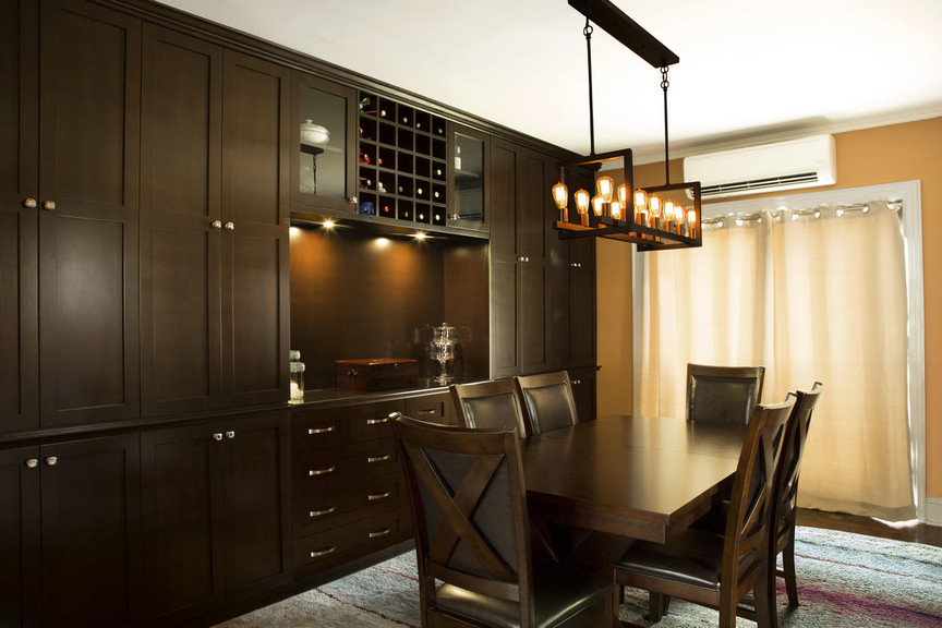 Custom Built In Dining Room Wall Unit