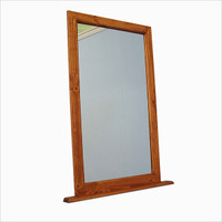 "CLEARANCE - Birch or Oak Wood Dresser Top Mirror 24"" x 40"""