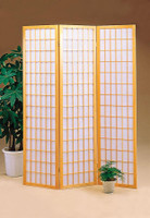 Japanese Style 3 Panel Screen in Natural