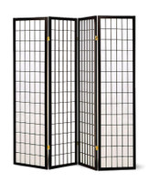 Japanese Style 4 Panel Screen In Black