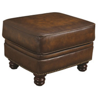 Manchester Ottoman | 100% Leather