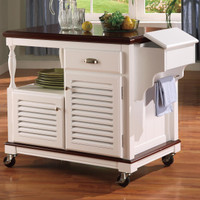 Cherry Topped Kitchen Cart