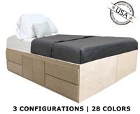 King Storage Bed | Oak Wood