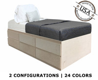 Twin Storage Bed | Birch Wood