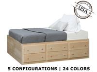 Full Storage   Bed |  Pine Wood