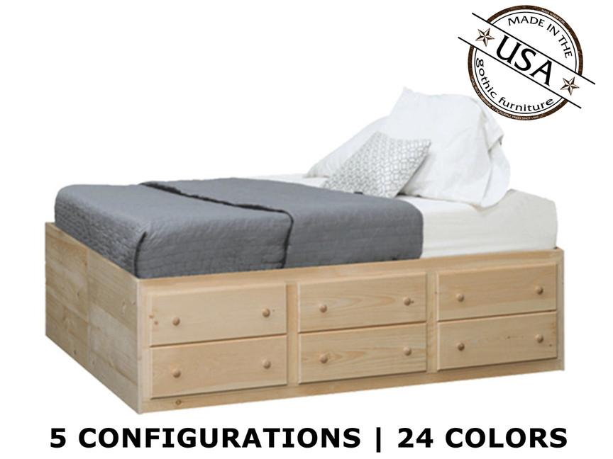 sc 1 st  Gothic Cabinet Craft & King Storage Bed | Pine Wood