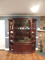 CUSTOM - Raised Panel Curio With Corner Fills