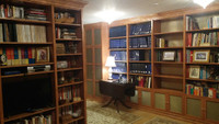CUSTOM - Built In Library Wall Units