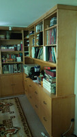 CUSTOM - Built In Wall Unit With File Cabinets