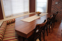 CUSTOM - Two-Tone Pedestal Table