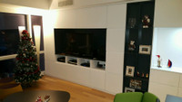 Built In Entertainment Center in White