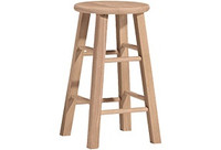 "24"" Wood Stool (Set of 2)"