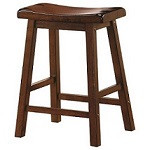 "24"" Saddle Stool - Set of 2 - Chestnut Finish"