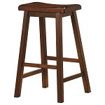 "29"" Saddle Stool - Set of 2 - Chestnut Finish"