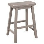 "24"" Saddle Stool - Set of 2 - Gray"