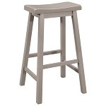 "29"" Saddle Stool - Set of 2 - Gray"