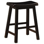 "24"" Saddle Stool - Set of 2 - Black"