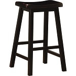 "29"" Saddle Stool - Set of 2 - Black"