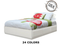 California King Captains Bed  | Birch Wood