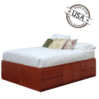 Queen Storage Bed 8 Drawers & 4 Doors