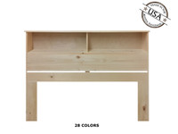 Full / Queen Bookcase 9 x 62 x 46 | Pine Wood