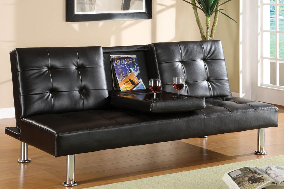 black leather couch bed futon albert sofa