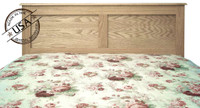 CLEARANCE - Headboard, Oak Wood Double Panel, Queen
