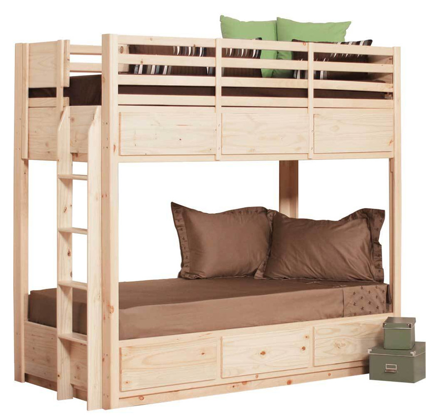 Twin Bunk Bed With 6 Drawers On Metal Tracks