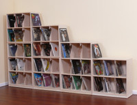 LP Record Tower, 14 Shelf w/ Base