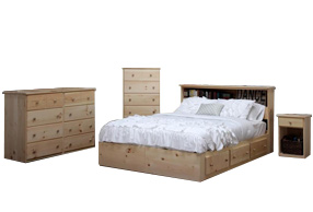 Gothic cabinet craft real wood furniture established 1969 for Gothic cabinet craft platform bed