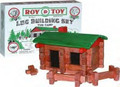 Roy Toy Building Logs - Miniature Log Cabin 37+ Pc