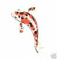 Swarovski Crystal Magnet -  Koi -  white, black, orange spots