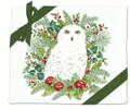 Alice's Cottage Set of 2 Cotton Flour Sack Towels WINTER SNOWY OWL