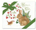 Alice's Cottage Set of 2 Cotton Flour Sack Towels WINTER BUNNY