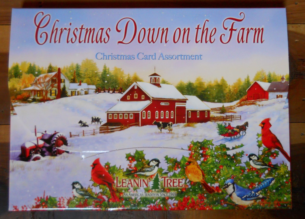 Leanin Tree Christmas Cards.Leanin Tree Christmas 20 Box Set Christmas Down On The Farm